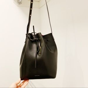 MANSUR GAVRIEL classic black bucket bag
